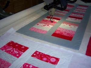 Valentine Table Runners for NWAL Auction.