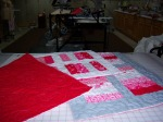 Valentine Table Runners for the NWAL Auction. Time to sit down and get these binded.