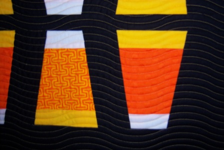 Close up of Modern Quilt Guild Season Challenge 2013