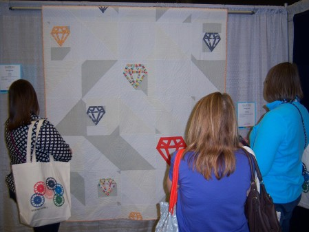 Quilcon 2015 Minimalist - Diamonds by Shannon Page Dallas MQG