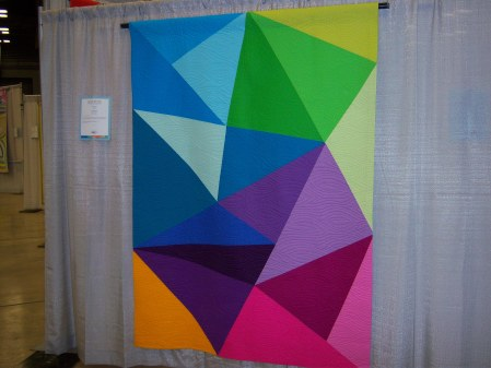 Quiltcon 2015 Piecing - Fractured Triangles by Paula Leber Kansas City MQG