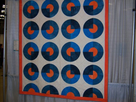 Quiltcon 2015 Piecing - Blue Circle Quilt by Kim Eichier Messmer Kansas City MQG