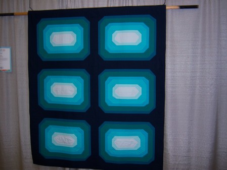 Quiltcon 2015 Piecing - Aura Blue by David Kansas City MQG