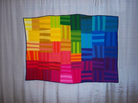 Quiltcon 2015 Improvisation - Rainbow Remix by Rebecca Bryan Houston MQG