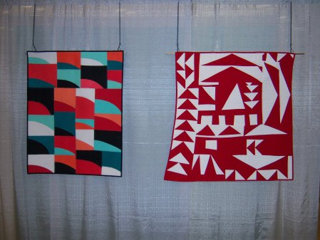 Quiltcon 2015 Improvisation - Modern Sunset by Lauren Palmer and Wild Geese by Penny Gold Individual MQG