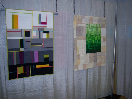 Quiltcon 2015 Improvisation - Shades Of Gray by Terry Aske Vancouver MQG and Emerald City by Charlottr Newland Individual MQG