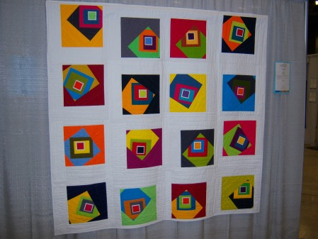 Quiltcon 2015 Improvisation - Off Centre by Andres Rosales Los Angeles MQG