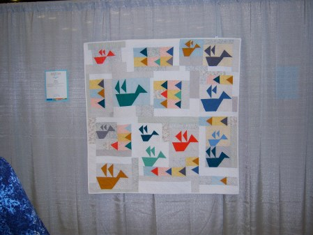 Quiltcon 2015 Improvisation - Folded Flock by Jenna Brand Ann Arbor MQG
