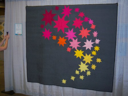 Quiltcon 2015 Use Of Negative Space - Comma Comet by Janet Garman Houston MQG
