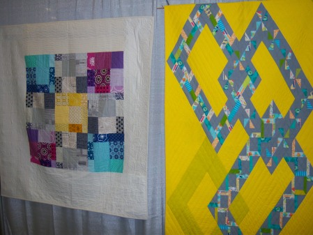 Quiltcon 2015 Use Of Negative Space - Blocked In by Elizabeth Dickson and Diamond Chains by Charlotte Noll Individual MQG