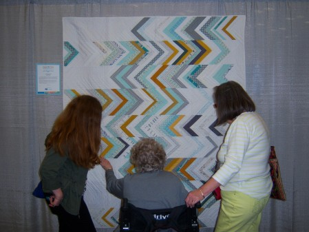 Quiltcon 2015 Use Of Negative Space - Somewhat Herringbone by Dorie Scwartz Ann Arbor MQG