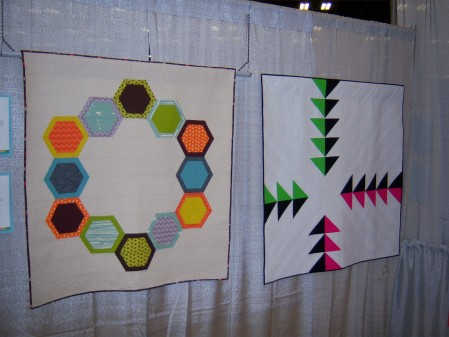 Quiltcon 2015 Use Of Negative Space - Mod Hex 2 by Jen Sorenson Boston MQG and Pike's Peak by Cheryl Dickey Individual MQG